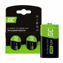 Green Cell Battery 2x D R20 HR20 Ni-MH 1.2V 8000mAh