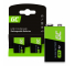 Batteries Rechargeable 2x 9V HF9 Ni-MH 250mAh Green Cell