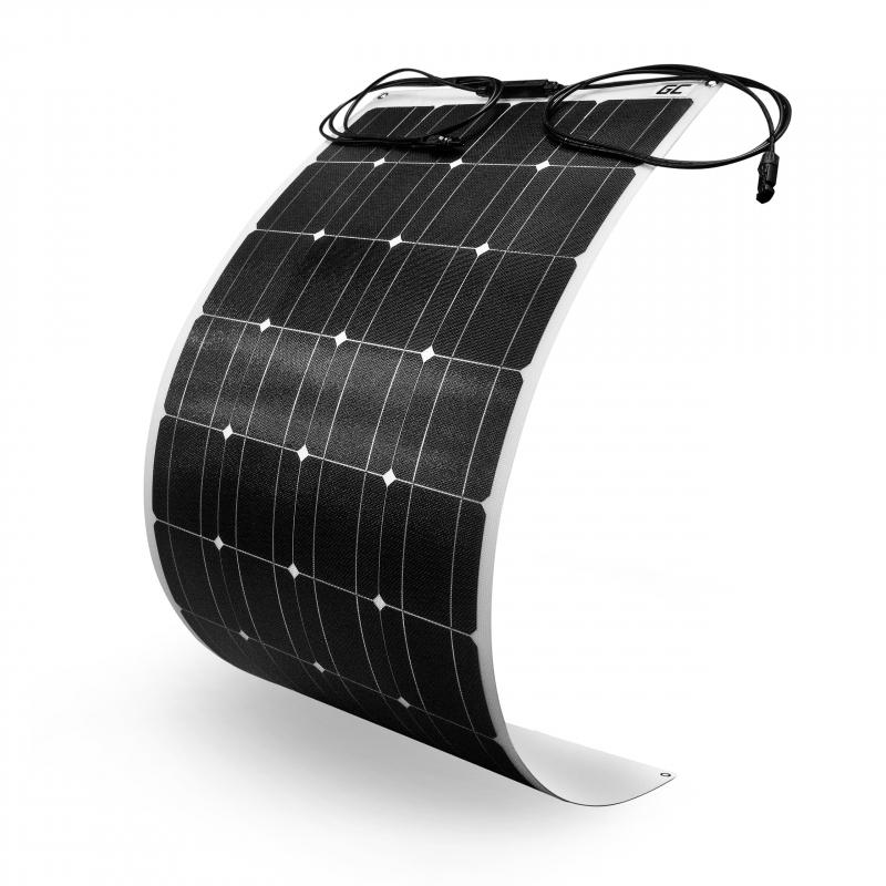 Flexibles Solarpanel Solarmodul Green Cell GC SolarFlex 100W / Monokristallin / 12V 18V / ETFE / MC4