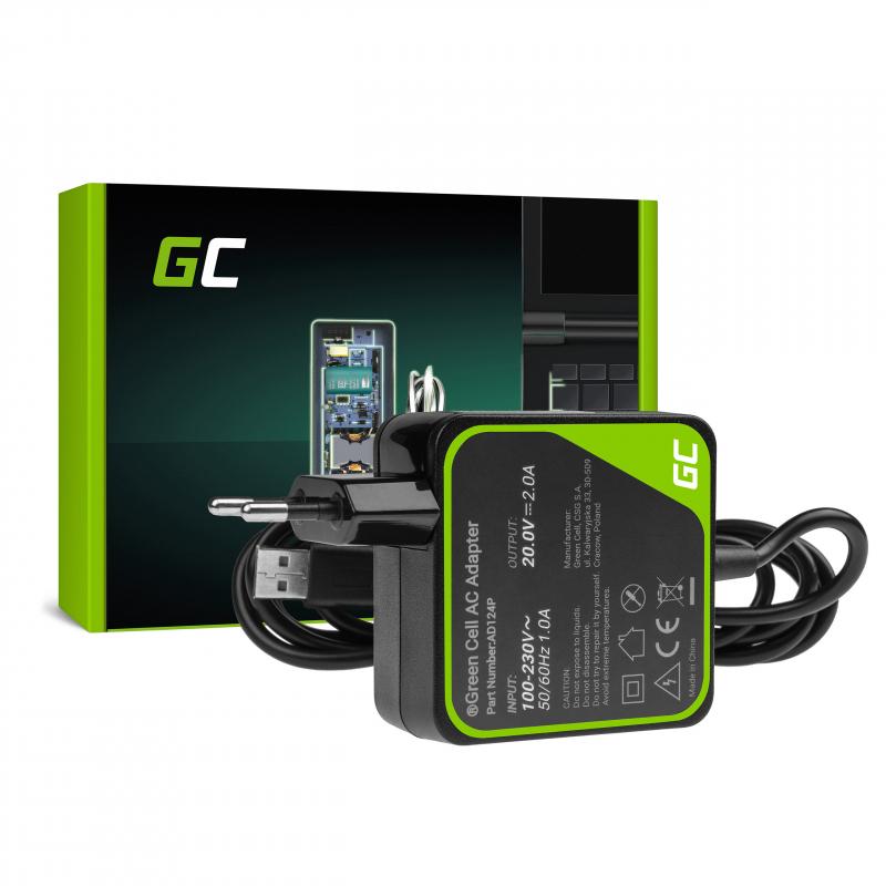 Charger / AC Adapter Green Cell PRO 20V 2A 40W for Lenovo Yoga 3 i Lenovo Yoga 3 PRO