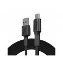 Kabel Green Cell GC PowerStream USB-A - Micro USB 200cm, szybkie ładowanie Ultra Charge, QC 3.0