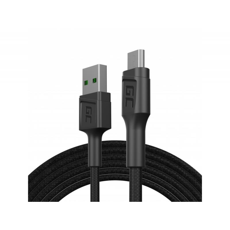 Kabel Green Cell GC Eko USB - Micro-USB-Kabel 200 cm schnelles Aufladen Ultra Charge, QC 3.0