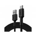 Kabel Green Cell GC PowerStream USB-A - USB-C 120cm, szybkie ładowanie Ultra Charge, QC 3.0