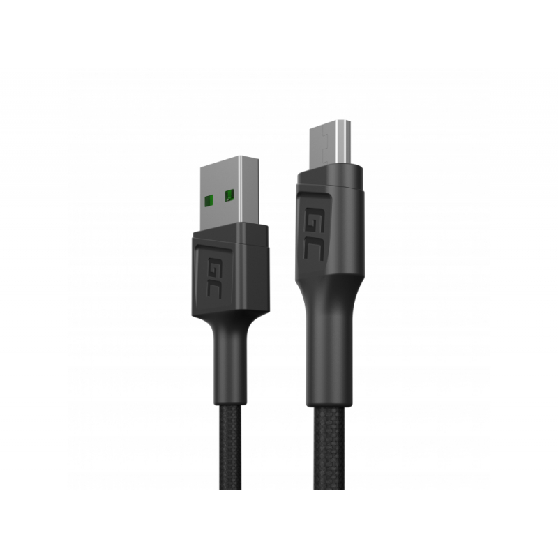 Kabel Green Cell GC PowerStream USB-A - Micro USB 30cm, Ultra Charge Schnellladung, QC 3.0
