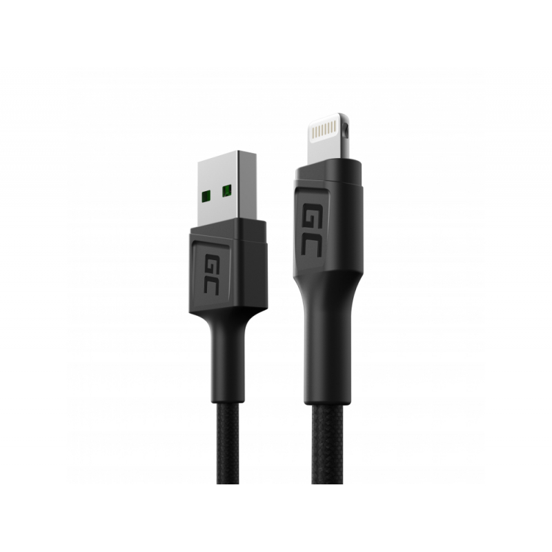 Cable Green Cell GC PowerStream USB-A - Lightning 30cm, for iPhone, iPad, iPod, fast charging