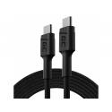 Kabel Green Cell GC PowerStream USB-C - USB-C 200cm, szybkie ładowanie Power Delivery (60W), Ultra Charge, QC 3.0