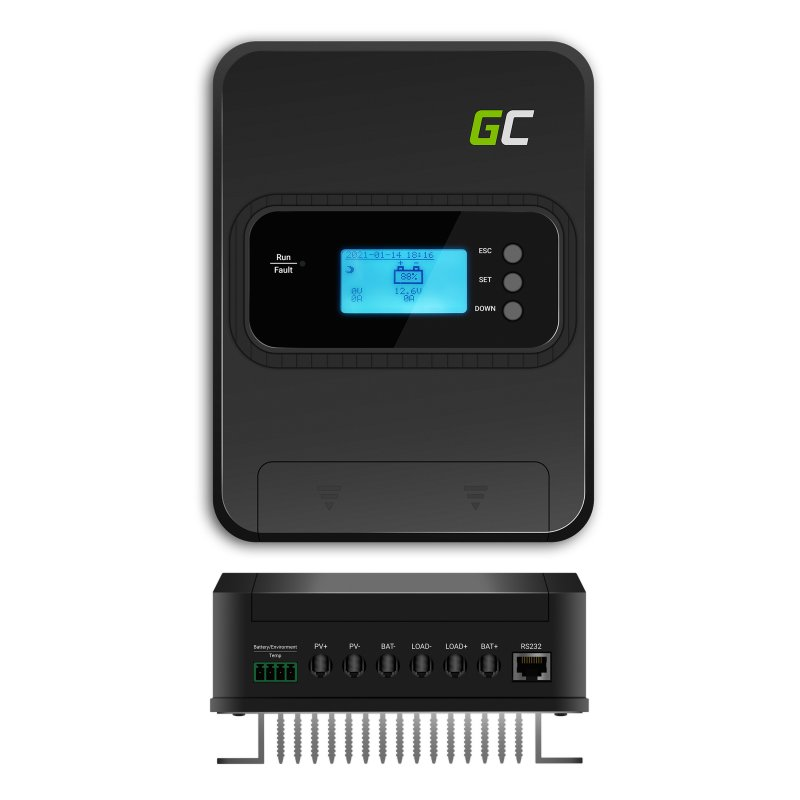 Solarny kontroler / regulator ładowania MPPT 30A do systemów 12V/24V/36V/48V - PV 145V (VOC)