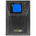 Zasilacz awaryjny UPS Online Green Cell MPII z wyświetlaczem LCD 1000VA