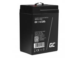 Green Cell® AGM 6V 4.5Ah Akku VRLA Blei-Batterie Spielzeug Elektro Spielzeug Alarm Kinderfahrzeuge