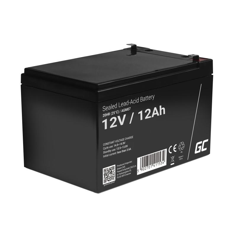 Green Cell ® Gel Battery AGM 12V 12Ah