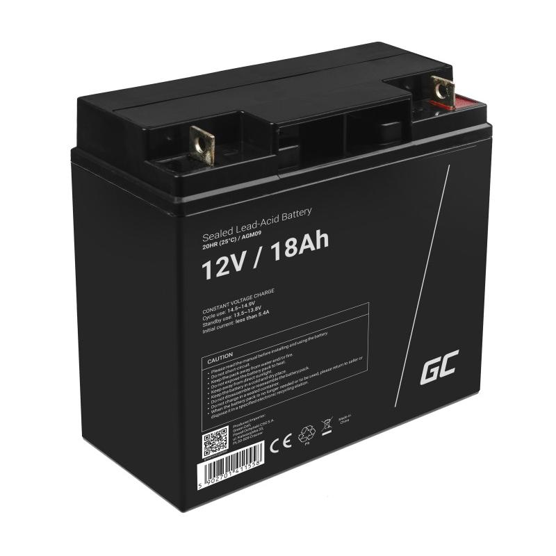 Green Cell ® Gel Batterie AGM 12V 18Ah