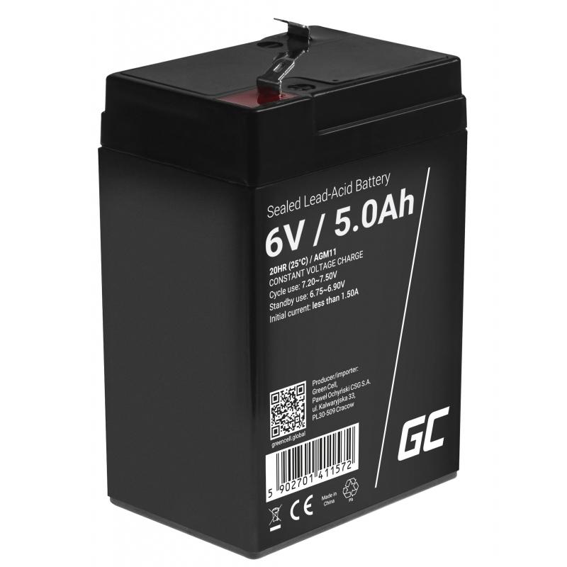 Green Cell ® Gel Battery AGM 6V 5Ah
