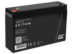 Green Cell® AGM 6V 7Ah Akku VRLA Blei-Batterie Spielzeug Elektro Spielzeug Alarm Kinderfahrzeuge