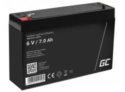 Green Cell® AGM VRLA 6V 7Ah bezobsługowy akumulator do systemu alarmowego kasy fiskalnej zabawki