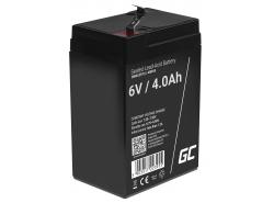 Green Cell® AGM VRLA 6V 4Ah bezobsługowy akumulator do systemu alarmowego kasy fiskalnej zabawki