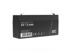 Green Cell® AGM VRLA 6V 3.3Ah bezobsługowy akumulator do systemu alarmowego kasy fiskalnej zabawki