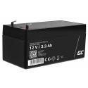 Green Cell® AGM VRLA 12V 3.3Ah bezobsługowy akumulator do systemu alarmowego kasy fiskalnej zabawki