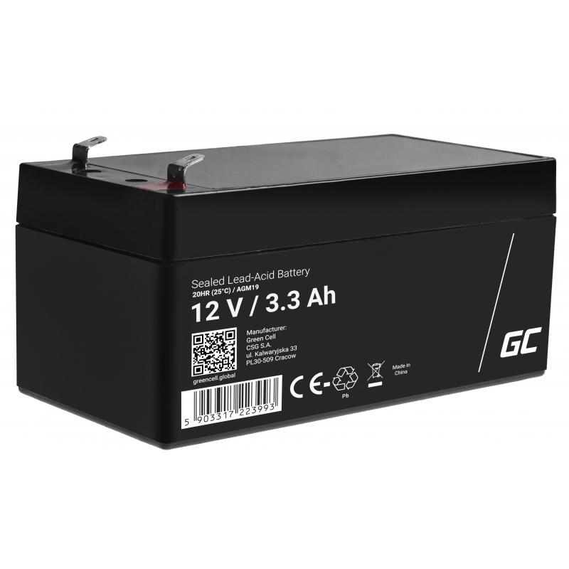 Akumulator AGM VRLA Green Cell 12V 3.3Ah