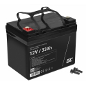Green Cell® AGM 12V 33Ah VRLA Battery Gel deep cycle scooter mower boat barge mower tractor fishing boat