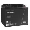 Green Cell® AGM VRLA 12V 40Ah bezobsługowy akumulator do kosiarki skutera łodzi wózka inwalidzkiego