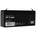 Green Cell® AGM 6V 3.4Ah VRLA Battery Gel deep cycle toys for kids alarm systems for toy vehicles toy car