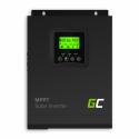 Inwerter solarny falownik Off Grid z ładowarką solarną MPPT Green Cell 12VDC 230VAC 1000VA/1000W Czysta sinusoida