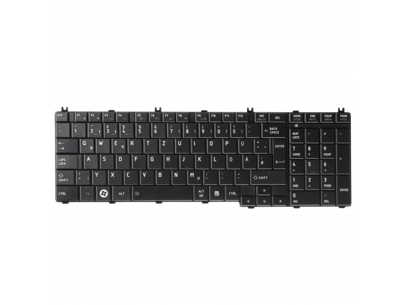 Green Cell ® Keyboard for Laptop Toshiba Satellite C650 C655 C660 L650 L670 L750