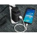 Green Cell ® Universaladapter zur Steckdose mit USB-Ports